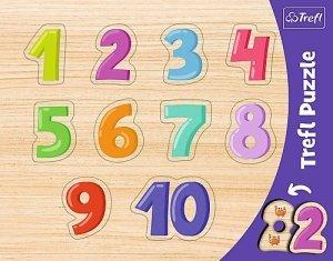 TREFL Puzzle Ramkowe układanki kształtowe CYFERKI (31304)