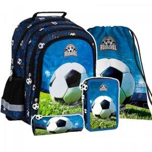 ZESTAW 4 el. Plecak szkolny FOOTBALL Piłka nożna (PL15BPI16SET4CZ)