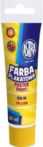 Farba plakatowa w tubie 30 ml żółta ASTRA (83110915)