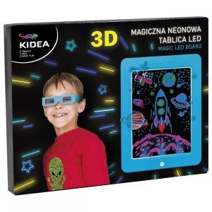 Magiczna neonowa tablica 3D LED KIDEA niebieska (MNT3DLKAN)