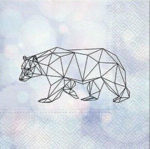 Serwetki dekoracyjne Geometric Bear NIEDŹWIEDŹ 33x33 cm (SDL015700)
