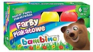Farby plakatowe BAMBINO 6 kolorów (01598)