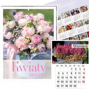 Kalendarz ścienny KWIATY 31 x 23 cm 2022 (00188)