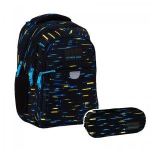 ZESTAW 2 el. Plecak wczesnoszkolny BackUP 24 L kolorowe paski, CYBER (PLB4P45SET2CZ)