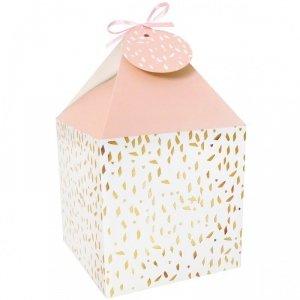 Pudełko prezentowe na prezent 4 szt. RÓŻOWO- KREMOWE  Incood. ( 0040-0161)