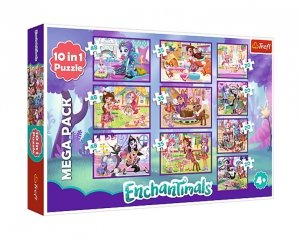 TREFL Puzzle 10 w 1 ENCHANTIMALS, Przygody Enchantimals (90354)