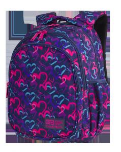 Plecak CoolPack JERRY 21 L serca, DRAWING HEARTS (C29141)