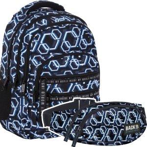 Zestaw ZESTAW 2 el. Plecak szkolny młodzieżowy BackUP 28 L ONLINE (PLB4M53SET2CZ)