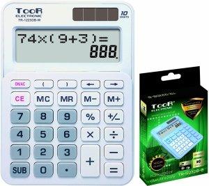 Kalkulator dwuliniowy TOOR biały (120-1900)