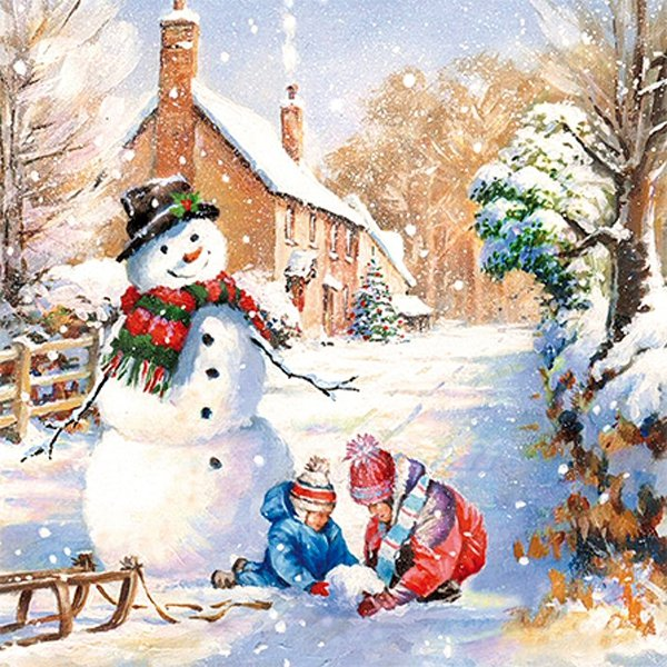 Serwetki świąteczne WINTER COUNTRYSIDE, Paw (SDL073900)