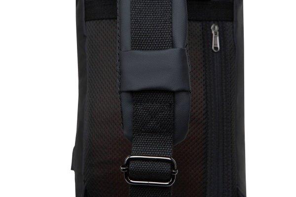 Plecak męski na jedno ramię z USB Depo Black Czarny R-Bag (Z081)