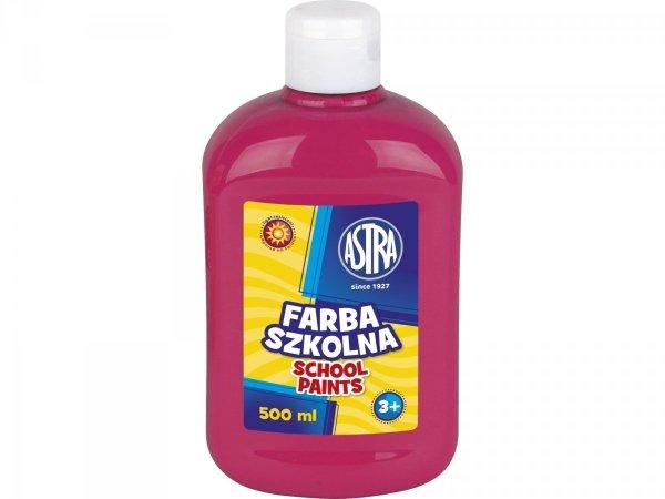 Farba szkolna RÓŻOWA 500 ml ASTRA (40081)