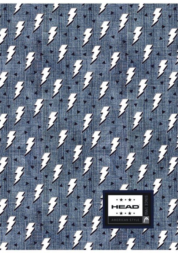 Zeszyt A4 60 kartek w kratkę HEAD w błyskawice, LIGHTNING HD-369 (102019034)