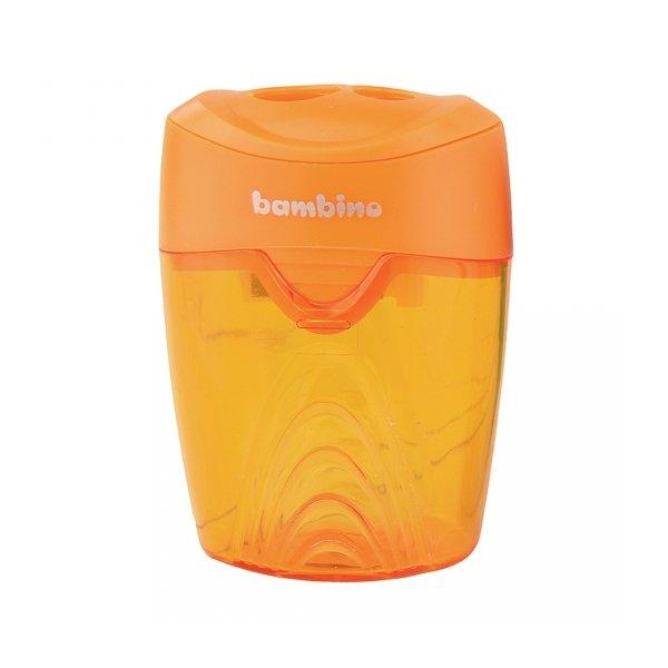 Temperówka podwójna plastikowa z pojemnikiem BAMBINO (03035)