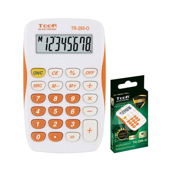 Kalkulator BIUROWY SZKOLNY pomarańczowy (120-1419)