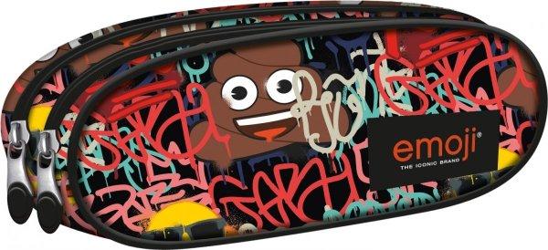 Piórnik dwukomorowy ST.RIGHT Emoji Graffiti EMOTIKONY PU2 (42151)