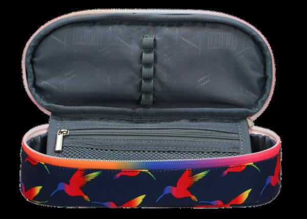Piórnik szkolny ST.RIGHT w tęczowe ptaki, RAINBOW BIRDS PC1 (22519)