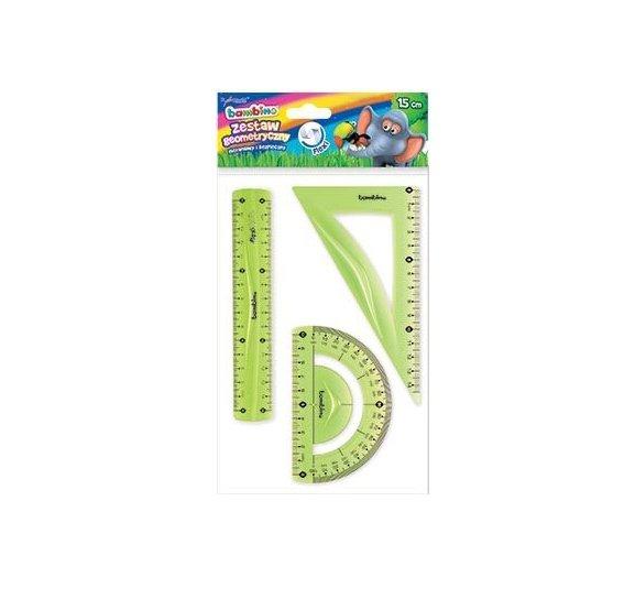 Zestaw geometryczny FLEXI 3 elementy 15 cm BAMBINO (03134)