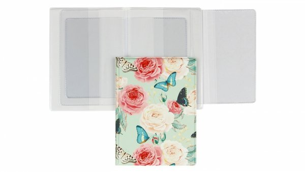 Etui na dokumenty kwiaty i motyle, BUTTERFLIES poziome (02514)