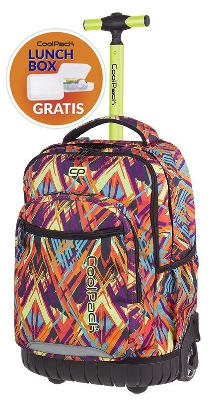 be70a4f870ec9 Plecak CoolPack SWIFT na kółkach artystyczne wzory, COLOR VIBES + gratis  (85011CP)