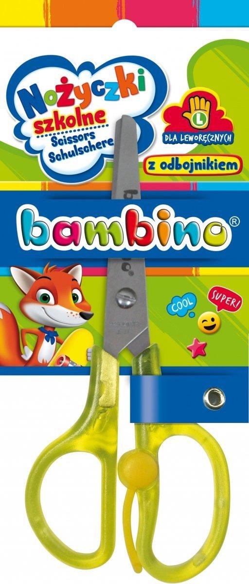 Nożyczki szkolne z odbojnikiem DLA LEWORĘCZNYCH BAMBINO (02946)