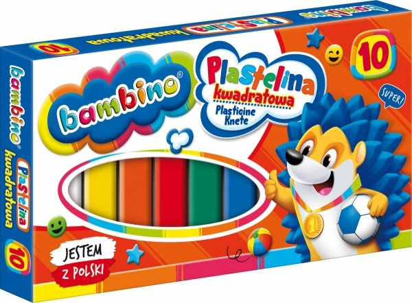 Plastelina kwadratowa BAMBINO 10 kolorów (02823)