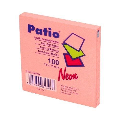 Karteczki samoprzylepne Notes Patio, RÓŻOWE (13062PTR)