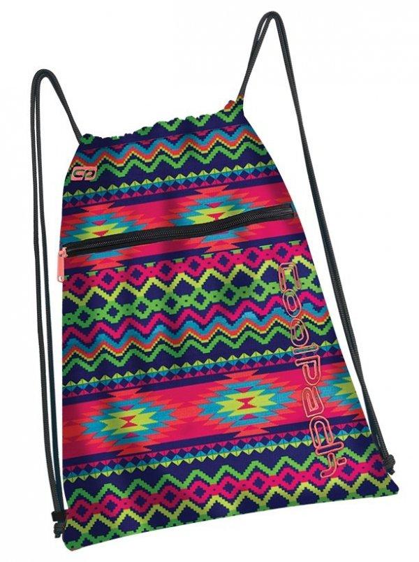 WOREK CoolPack SHOE BAG sportowy na obuwie kolorowe zygzaki, BOHO ELECTRA (93378CP)