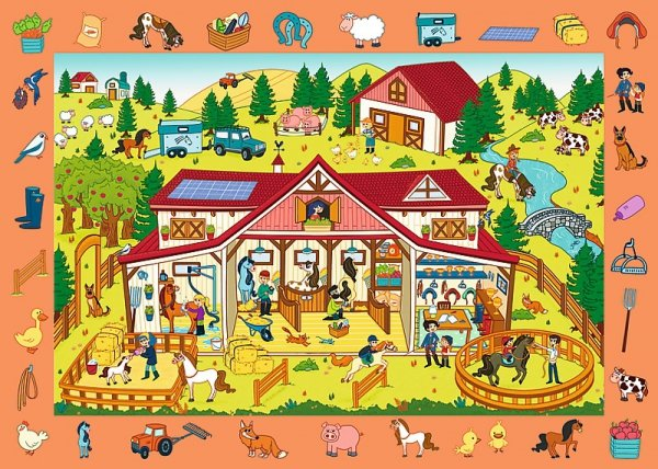 TREFL Puzzle Obserwacyjne 70 el. Odwiedzamy stadninę koni (15535)