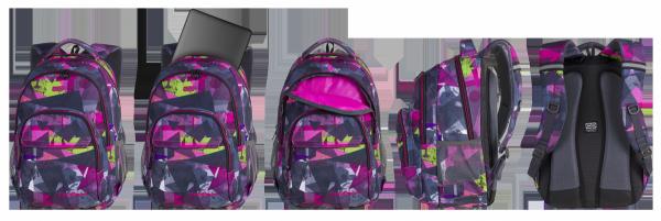 Plecak CoolPack BASIC PLUS różowe wzory geometryczne, PINK ABSTRACT (84550CP)