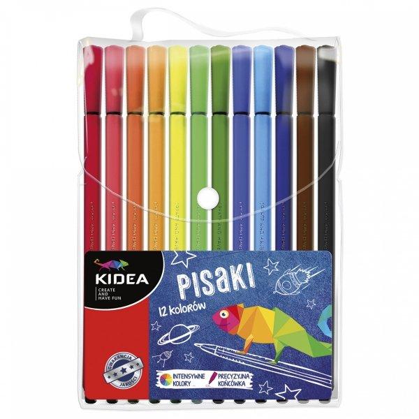 Pisaki 12 kolorów KIDEA (PI12KA)