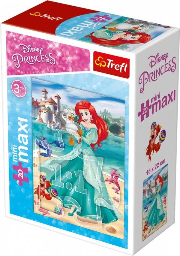 TREFL Puzzle miniMaxi 20 el. Księżniczki Arielka (21016)