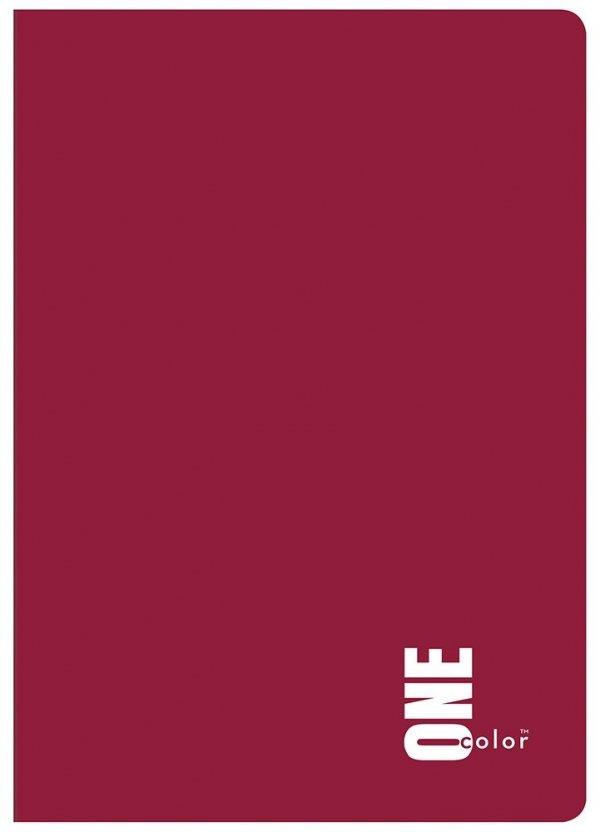Zeszyt A5 60 kartek w kratkę ONE COLOR Bordo (27003)
