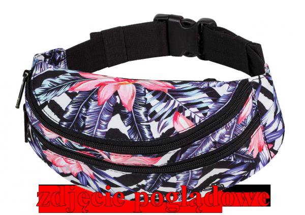 Saszetka na pas torba nerka COOLPACK MADISON czarna z czerwonymi dodatkami, TOPOGRAPHY RED 980 (71284)