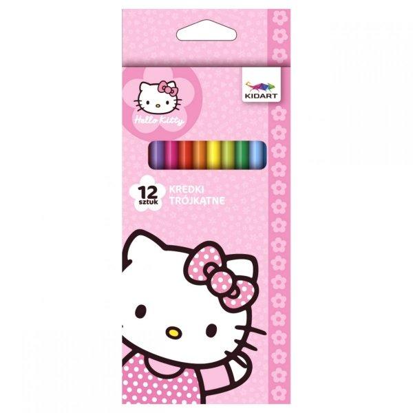 Kredki ołówkowe trójkątne Hello Kitty, 12 kolorów (KT12HK)