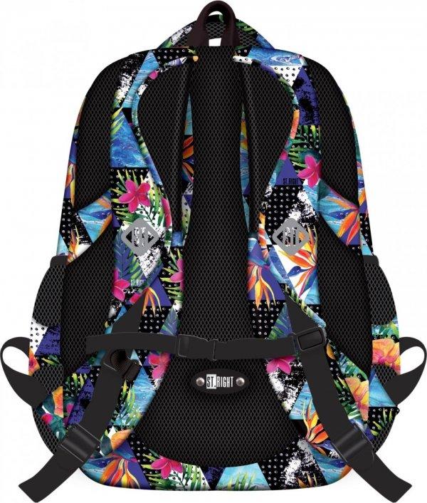 Plecak szkolny młodzieżowy ST.RIGHT w egzotyczne wzory PARADISE BP2 (18550)