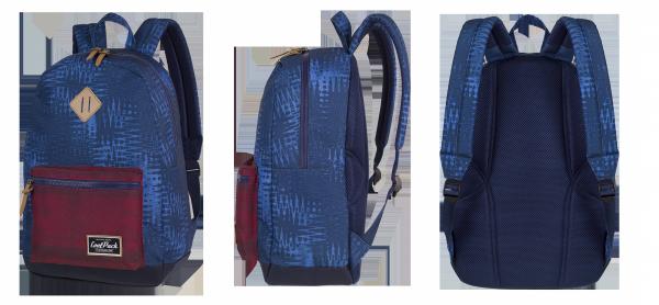 Plecak CoolPack miejski GRASP niebiesko bordowy, BLUE DRIZZLE (72489CP)
