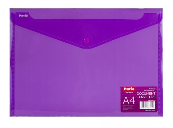 Teczka koperta transparentna na dokumenty A4 PATIO  fioletowa (PAT3133A/N/12)