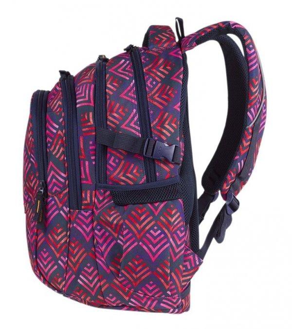 Plecak CoolPack FACTOR różowe strzałki, HAWAII PINK z pomponem (85134CP)