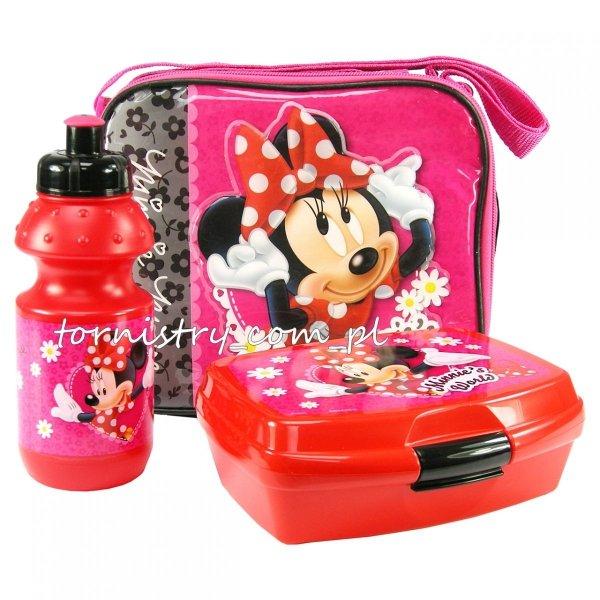 Zestaw bidon i śniadaniówka Myszka Minnie w torebce, licencja Disney (ZSBTMM11)