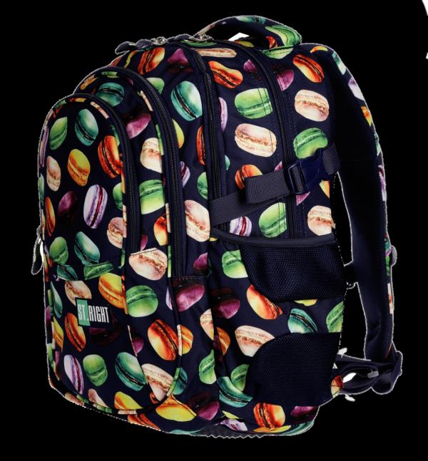 Plecak szkolny młodzieżowy ST.RIGHT w makaroniki, MACARONS BP1 (21802)