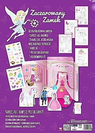 Kreatywna teczka kolorowanka naklejki ZACZAROWANY ZAMEK 3+ (27966)