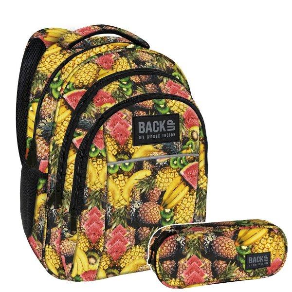 ZESTAW 2el. Plecak szkolny młodzieżowy BackUP TUTTI FRUTTI (PLB2H29SET2CZ)