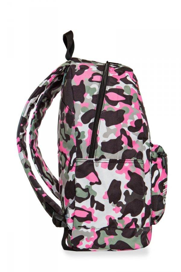 Plecak CoolPack CROSS różowe moro w znaczki, CAMO PINK BADGES (24022)