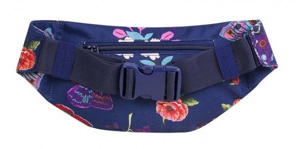 SASZETKA NERKA CoolPack na pas torba MADISON niebieska w motyle i kwiaty, SUMMER DREAM (86759CP)