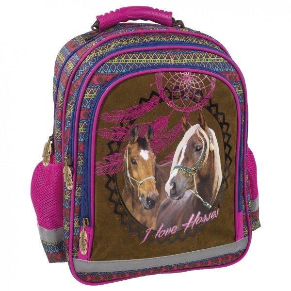 Plecak szkolny I LOVE HORSES Konie (PL15BKO16)