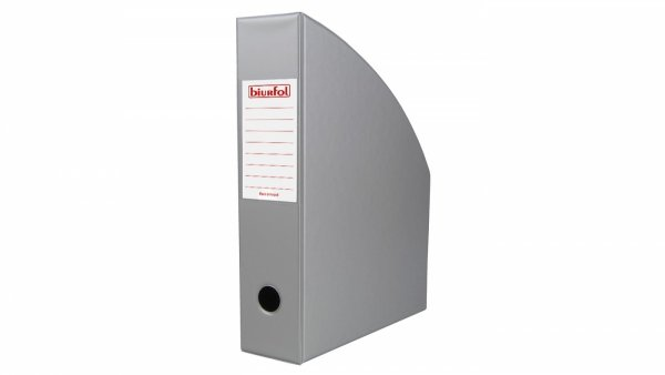 Pojemnik na dokumenty Segregator PVC SREBRNY 7 cm (00410)