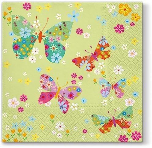 Serwetki dekoracyjne BUTTERFLIES AROUND Motyle 33x33 cm (SDL054900)