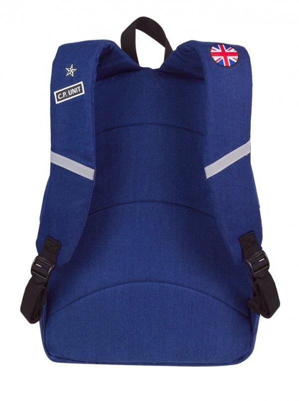 Plecak CoolPack CROSS niebieski w znaczki, BADGES NAVY (89630CP)