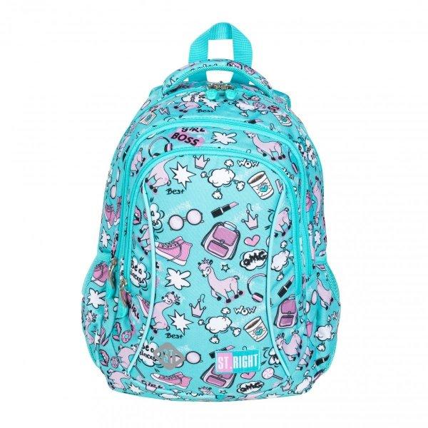 ZESTAW 3 el. Plecak wczesnoszkolny ST.RIGHT w pastelowe lamy, PASTEL LAMAS BP26 (26715SET3CZ)